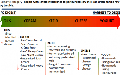 Which dairy products are easiest to digest for Lactose and Casein intolerance?