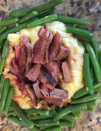 Failsafe dinner lamb potatoes green beans